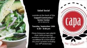 CAPA Salad Social flyer Sept 2021